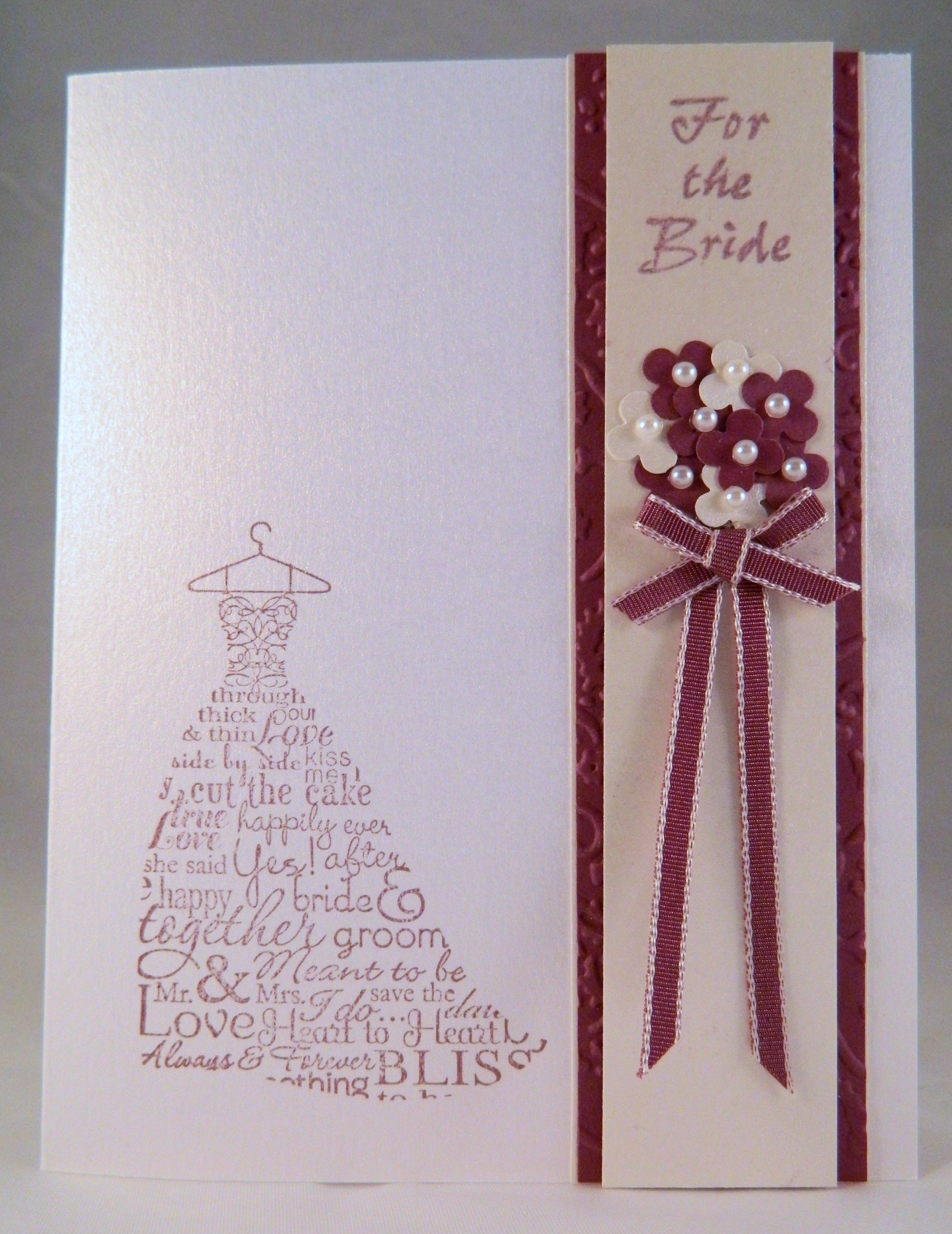 Fast and easy shower card using a stamp from stampin upus love and
