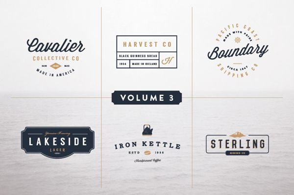 Vintage Logo Kit Volume Three By Jeremy Vessey Via Behance Vintage Logo Logo Templates Web Design Resources