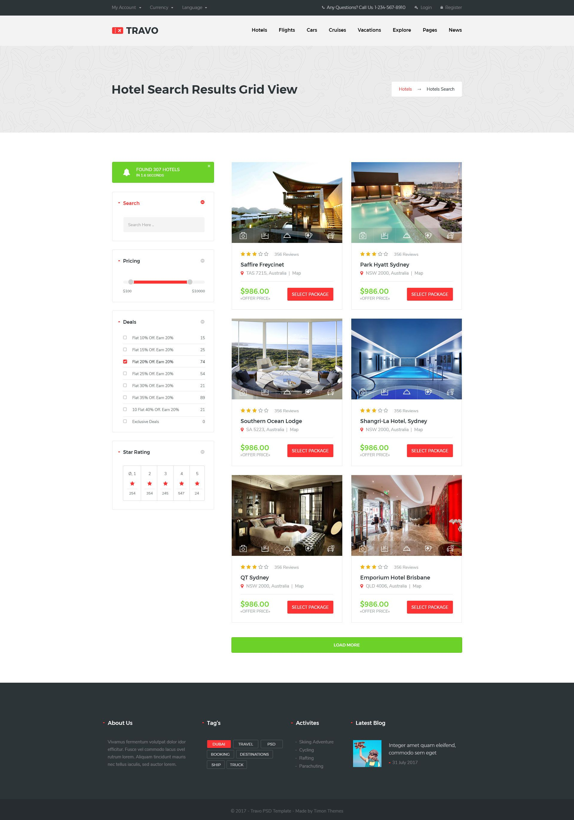 Travo Hotel Booking Travel Psd Template With Images Travel