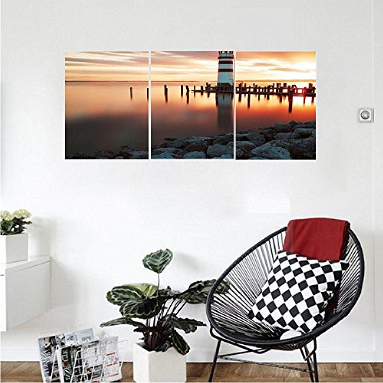 Liguo custom canvas lighthouse decor collection landscape ocean