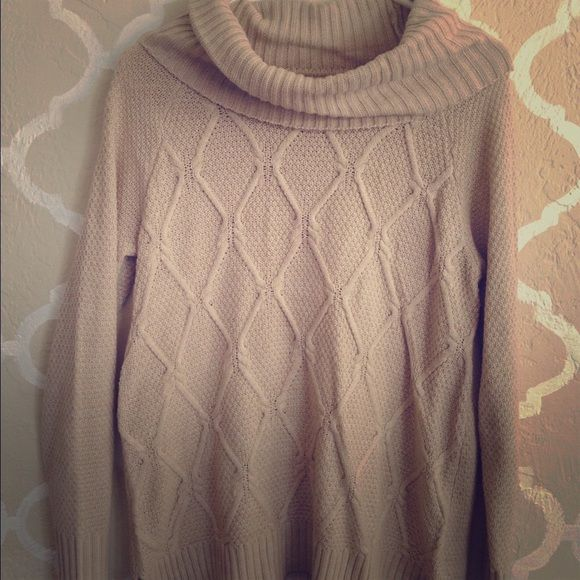 Cowl neck oversized sweater Cream colored over sized cowl neck ...