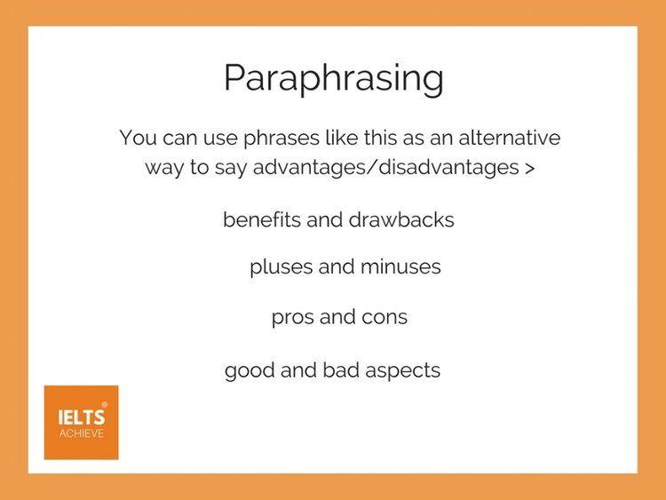 Advantage Or Disadvantage Paraphrasing H%e1%bb%8dc T%e1%ba%adp M%e1%ba%b9o An To