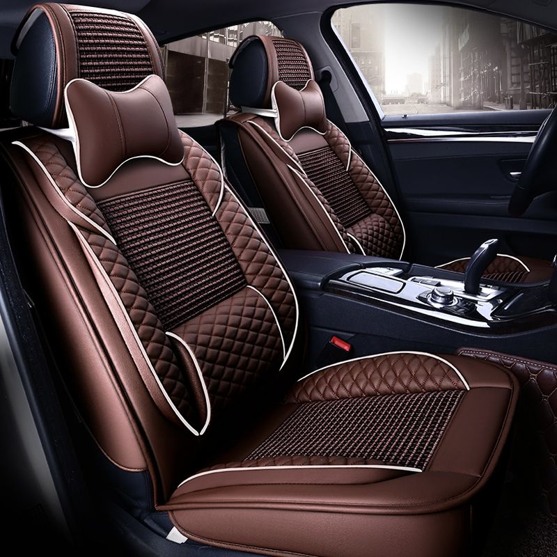 Summer Leather Seat Covers For Jeep Grand Cherokee Renegade Wrangler Compass Patriot Commander 5 Seat Cushion Seat Blanket 11e Leather Car Seat Covers Leather Seat Covers Car Seats