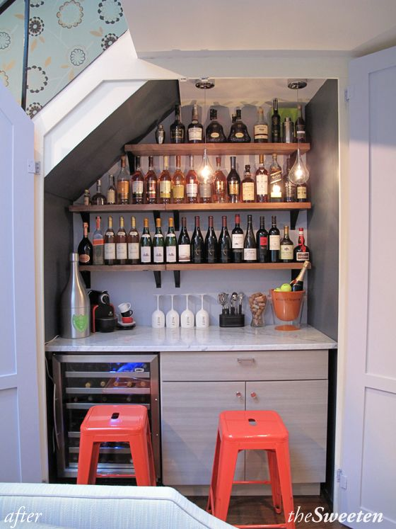 Building A Wine Bar In An Nyc Closet Closet Bar Bars For Home Mini Bar