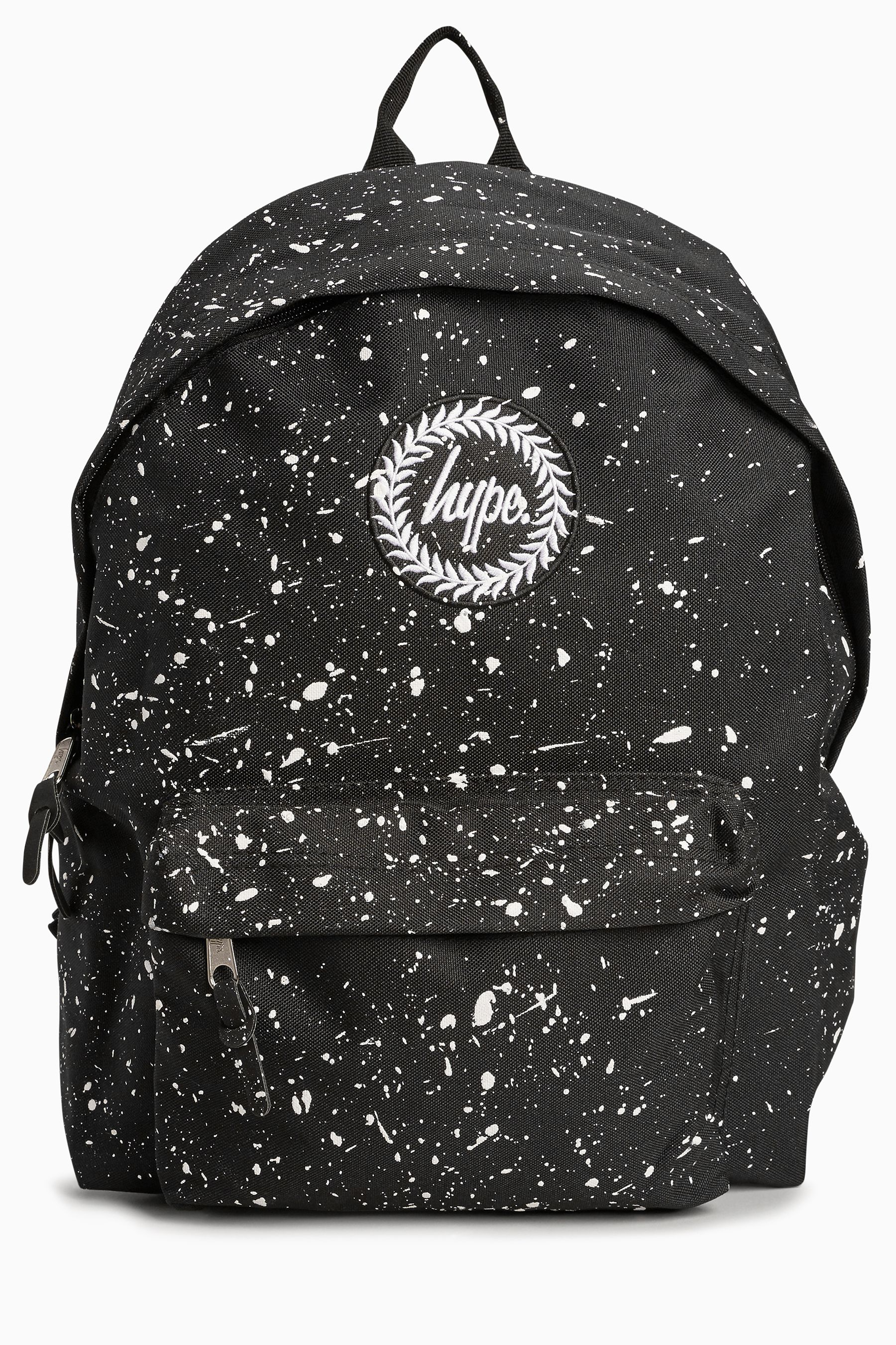daca0d86401 Shop the bags for women at ASOS. Mens Hype. Black/White Speckle Backpack -  Blue