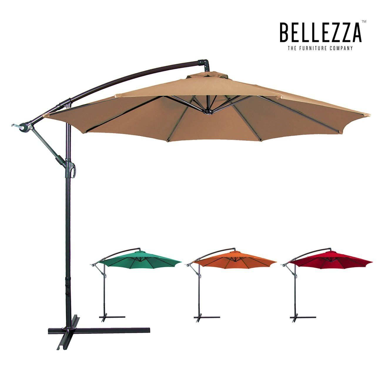 Amazon.com : Bellezza© Premium Patio Umbrella 10u0027 Feet Patio Tilt W/
