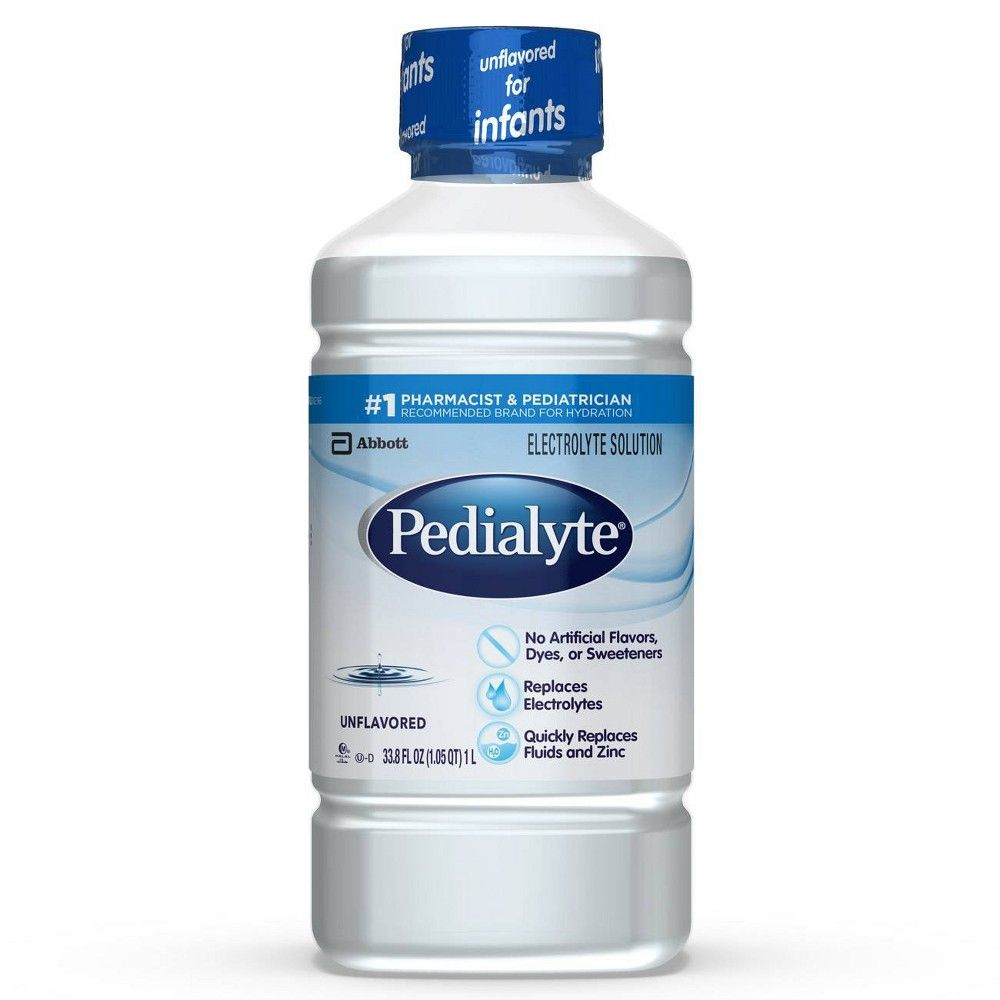 Pedialyte Electrolyte Solution Unflavored 33 8 Fl Oz In 2020 Best Electrolyte Drink Hydrating Drinks Electrolyte Drink
