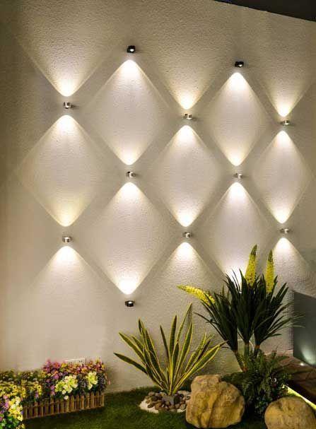 Wall Highlight With Images Backyard Lighting Modern Wall