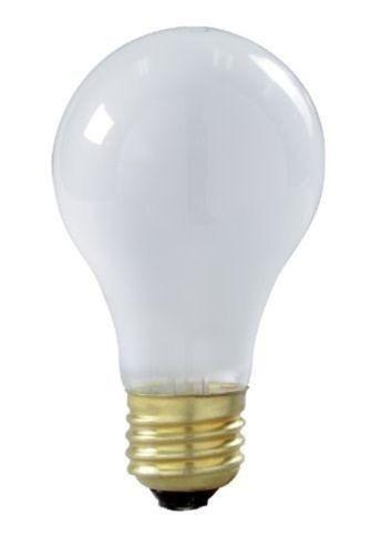 Satco S8522 60 watt A19 Incandescent Bulb, Frost, Medium