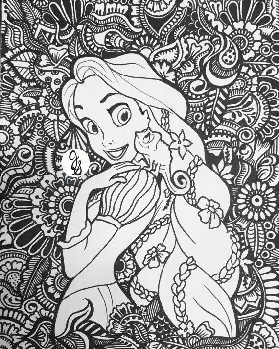 Tangled for princesscasey by jamierose coloringpage