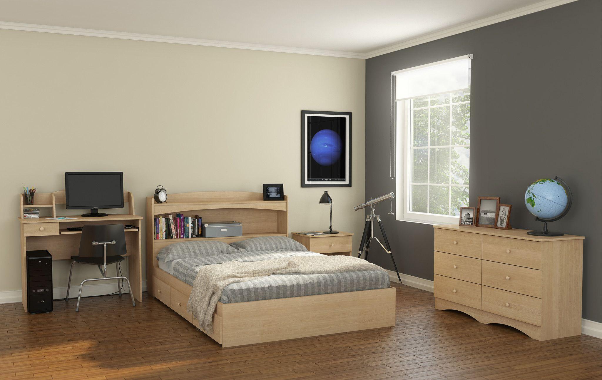 Alegria 5606 6-Drawer Double Dresser from Nexera, Natural Maple