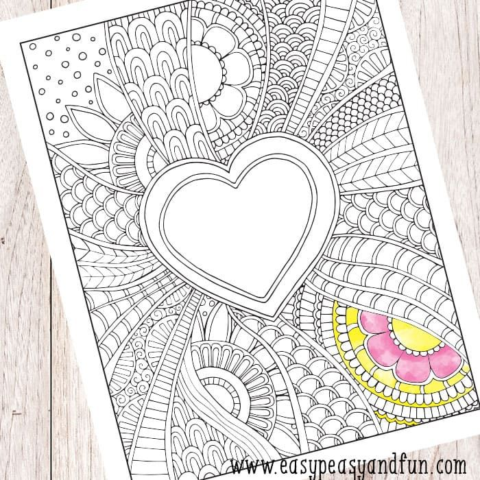 Doodle Heart Coloring Page Doodles, Easy peasy and Markers - new coloring pages ronaldo