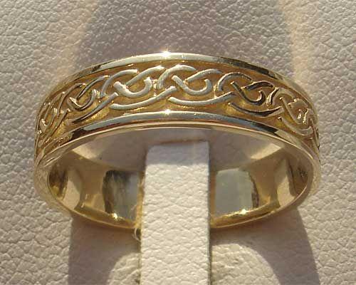 scottish celtic wedding ring for men or women - Scottish Wedding Rings