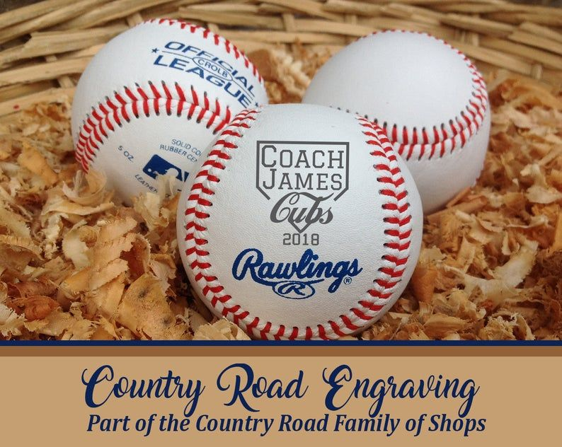 Baseball coachs gift engraved baseball baseball coach