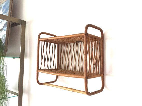 Vintage Rattan Wall Shelf Wicker Headboard Wicker Furniture Cushions Wicker Shelf