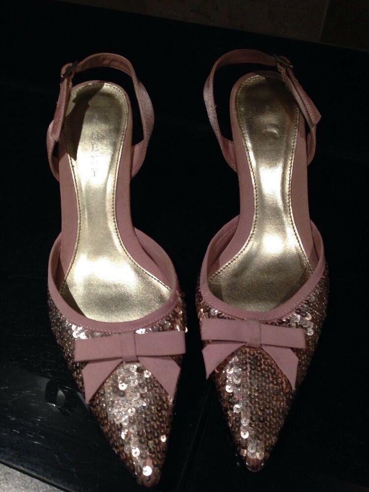 Next Sequinned Kitten Heels Size 5 Euro 38 Kitten Heels From Ebay Uk Kittenheels Heels 1 50 0 Bids End Dat Heels Kitten Heels Beaded Shoes