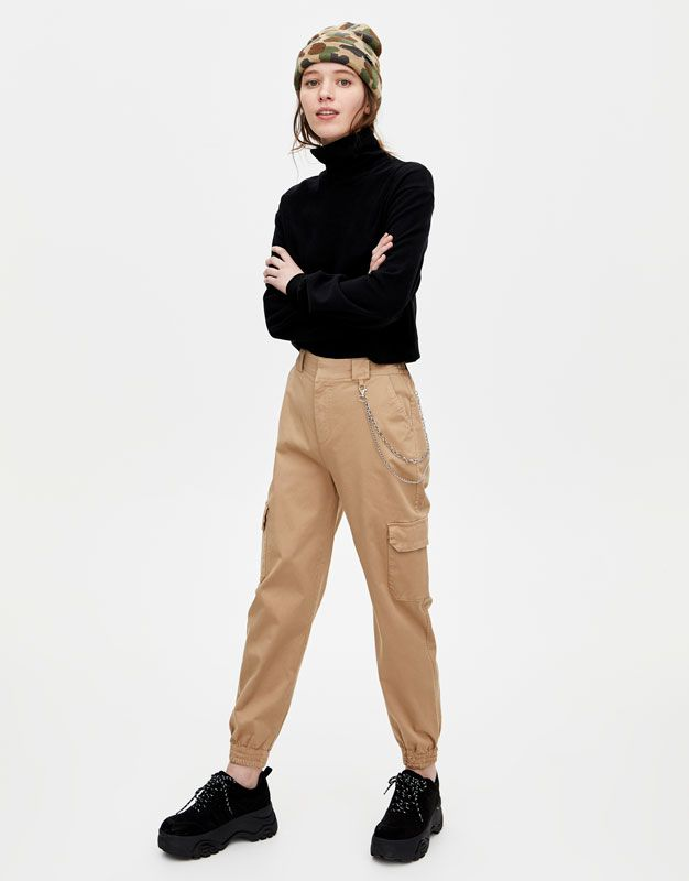 Cargo Chino Trousers Sand Pantalones Ropa Pantalones Cargo
