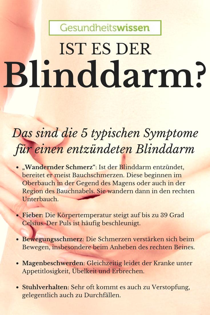 Eine Blinddarmentzündung ist übrigens nicht ganz korrekt ausgedrückt ...