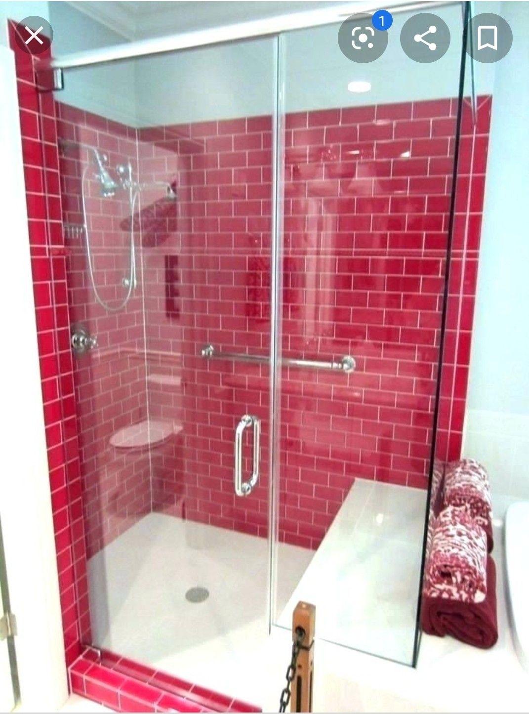 Pin By Janice Roye On Vortex Vision Board With Images Shower Tile Bathroom Red Tile Backsplash Bathroom