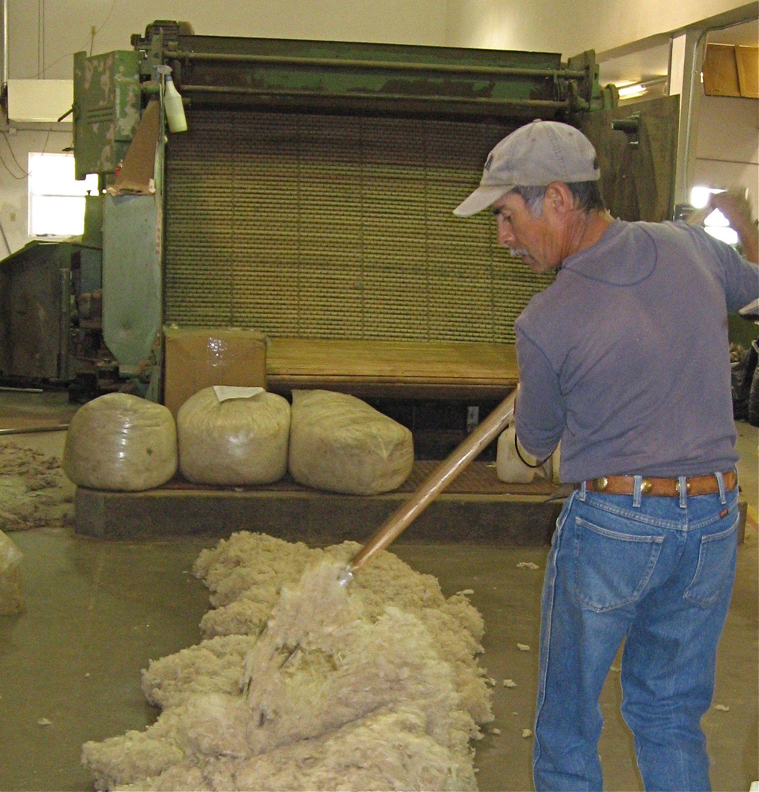 The beginning of the fiber process!