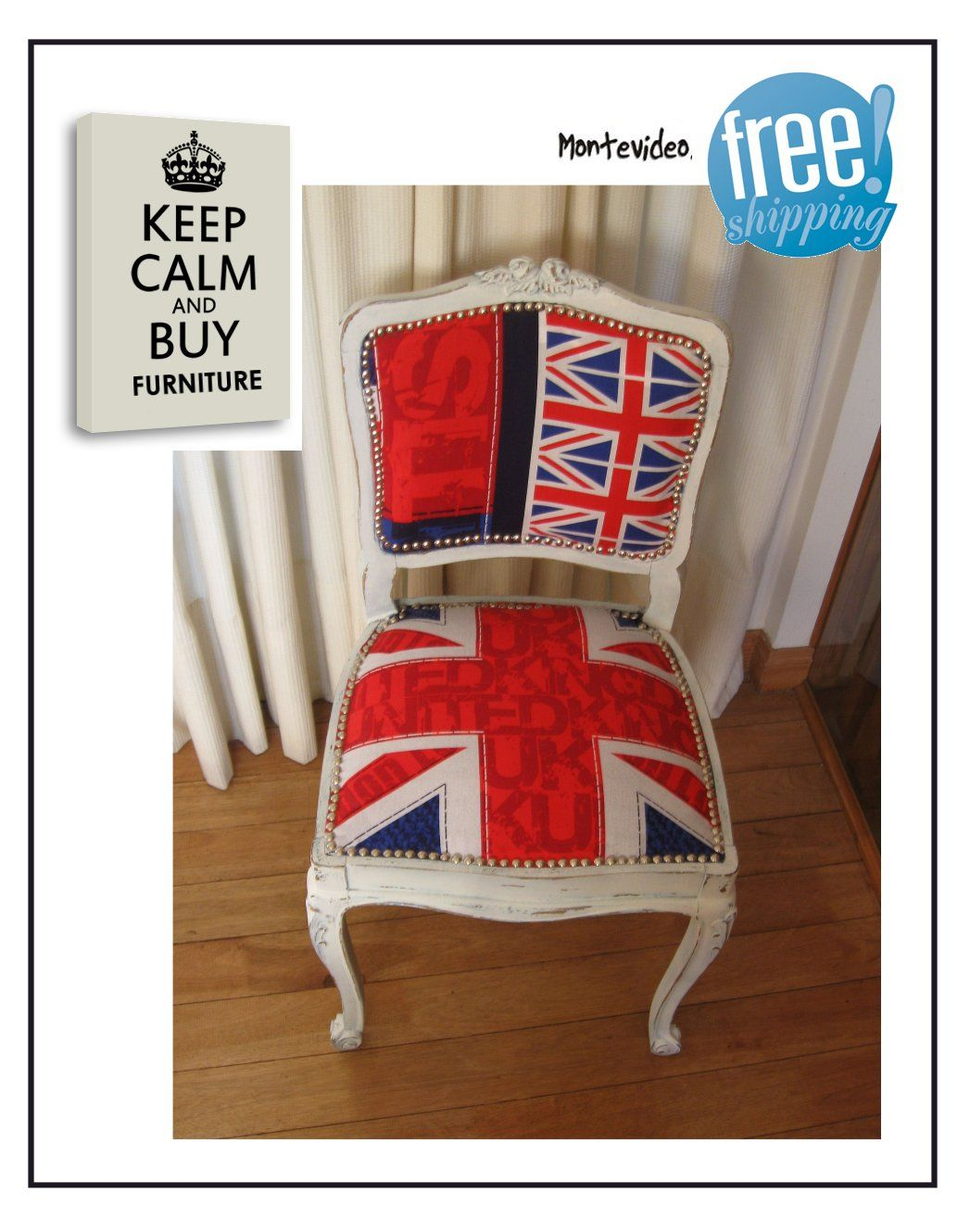 furniture refurbished. Chair Furniture Refurbished - Restored Union Jack UK