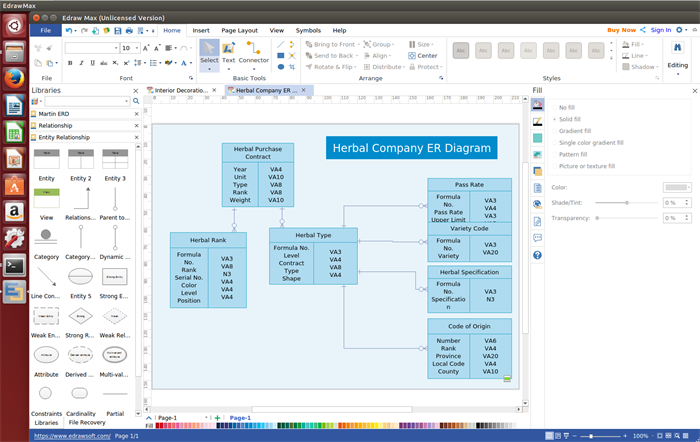 Edraw Er Diagram Software For Linux Is An Affordable And Easy To Use Alternative To Microsoft Visio Which Helps Users To Simplif Diagram Linux Microsoft Visio