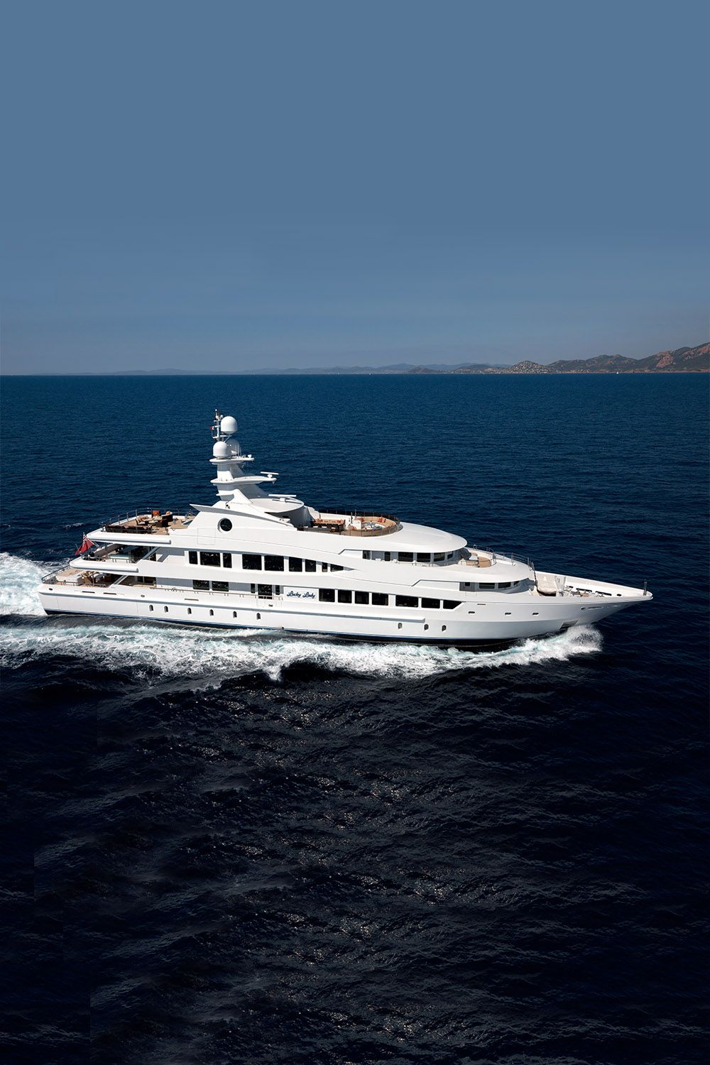 LUCKY LADY is an impeccably decorated yacht built for long range