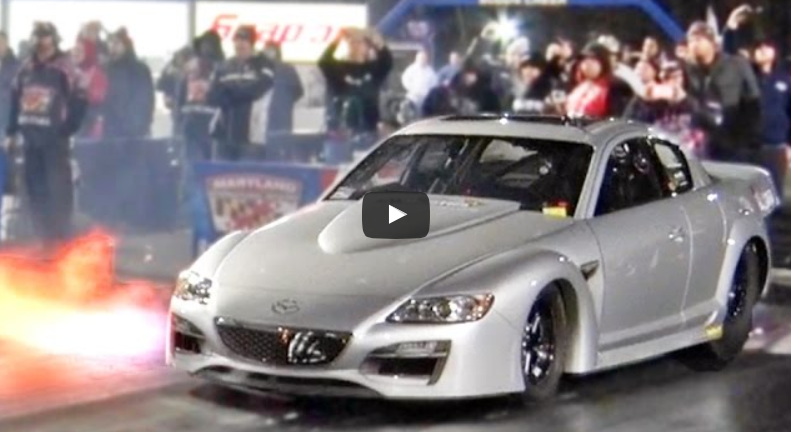 Triple Turbo Mazda RX-8 With 1,600HP Spitting Flames This