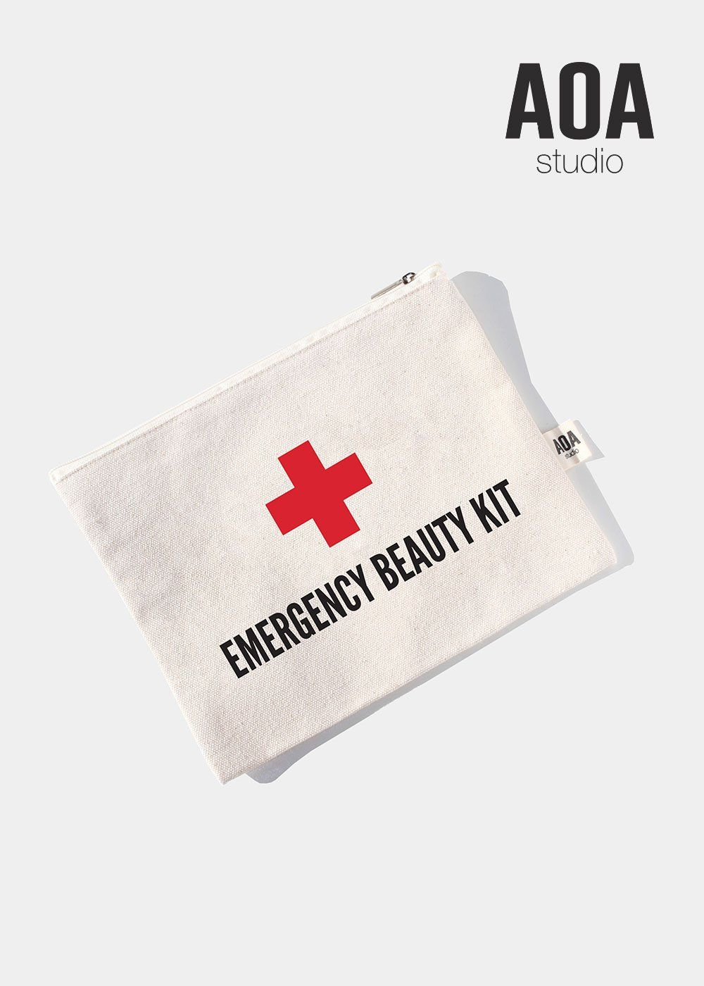 AOA Canvas Pouch Emergency Beauty Kit Beauty kit, Pouch