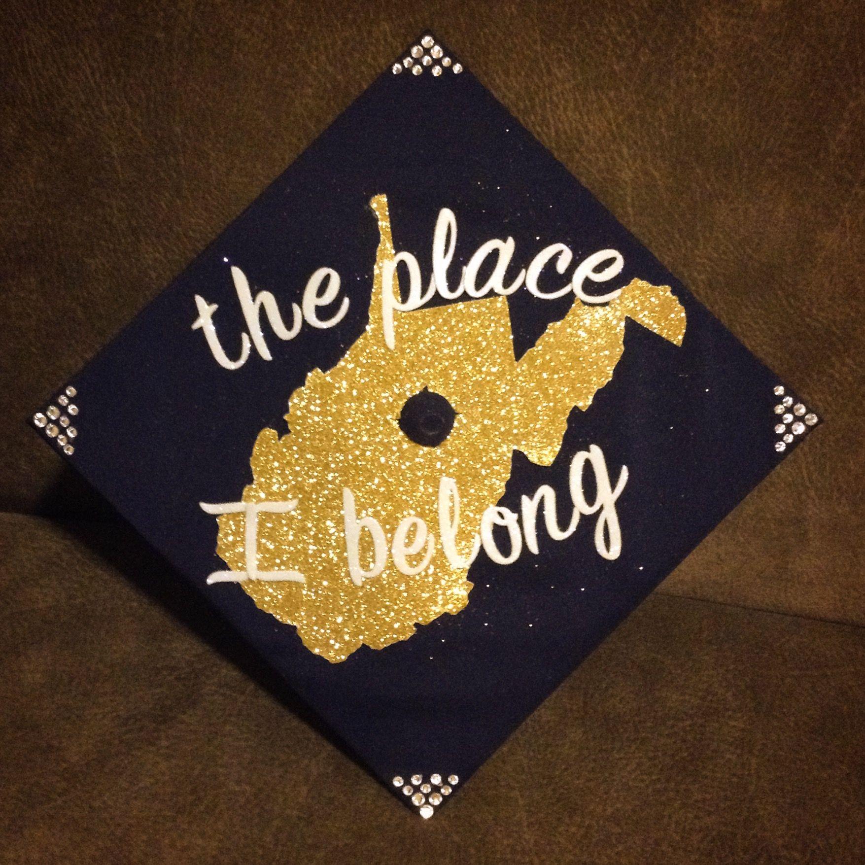 Graduation cap, West Virginia University, 2017 by Sarah R Campbell