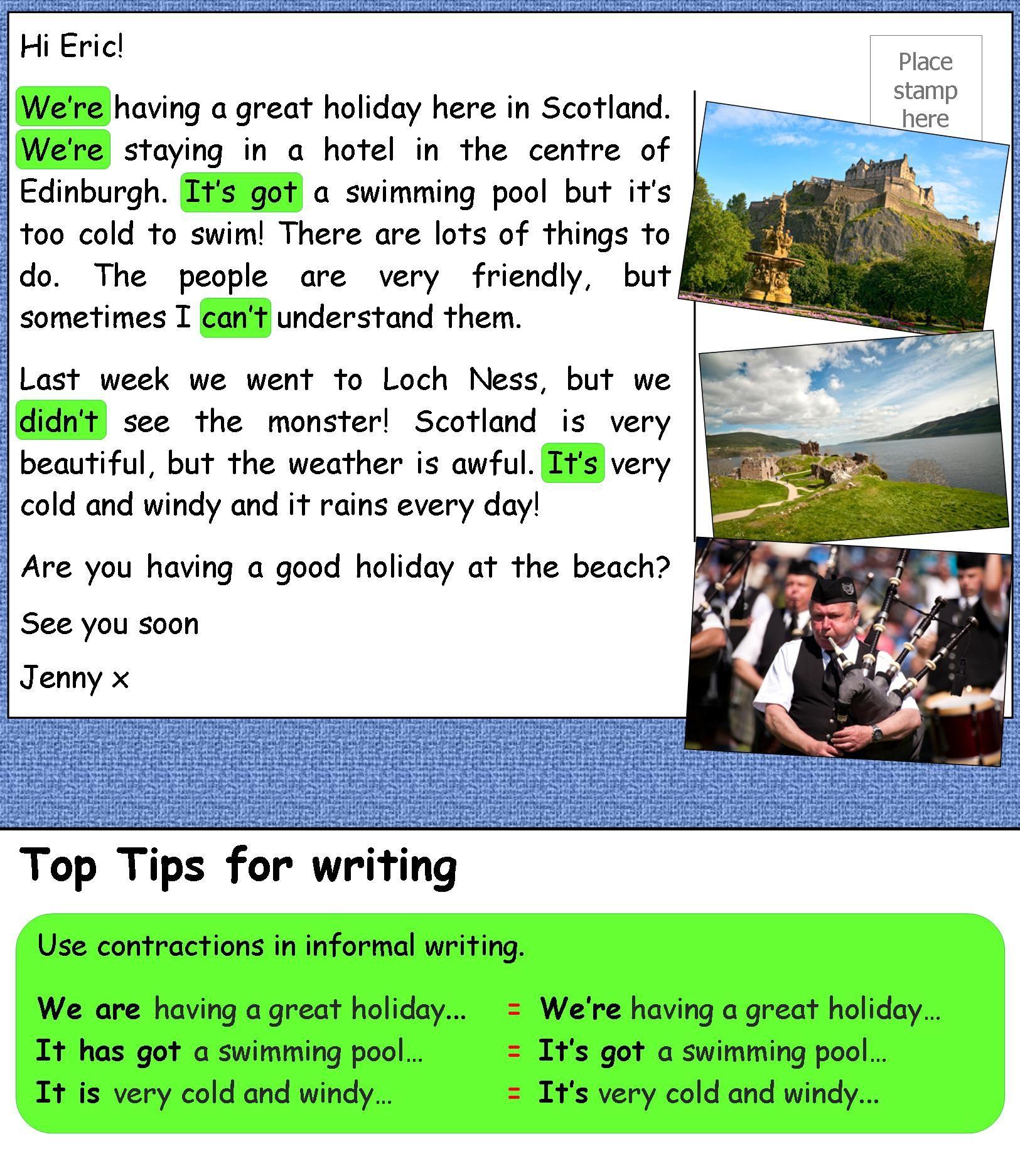 A Postcard From Scotland