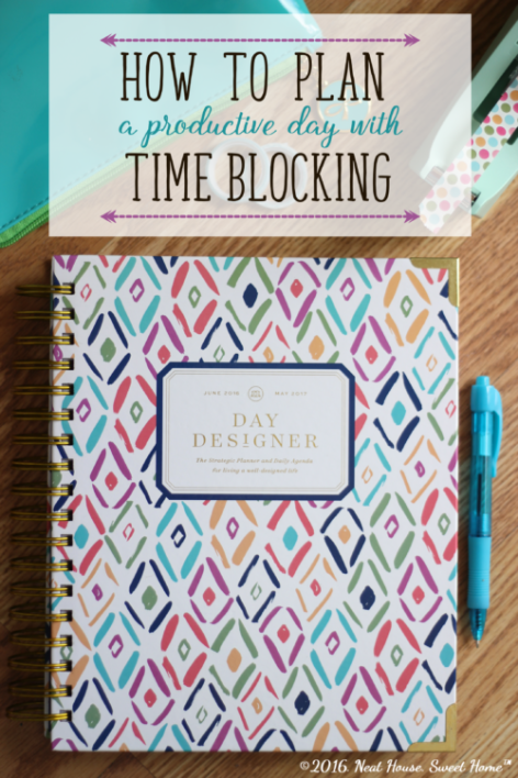 planning your day with the time blocking method planners