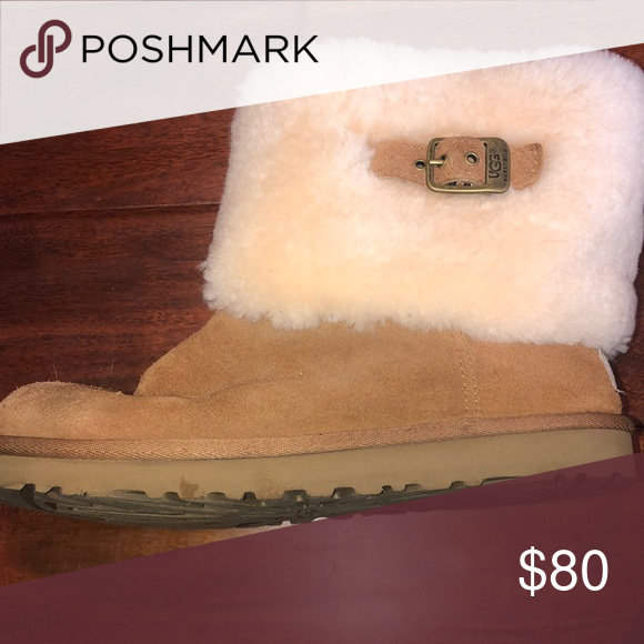classic shoes undefeated x professional sale Uggs Ellee ugg boots, fur on outside with buckle worn 3 ...