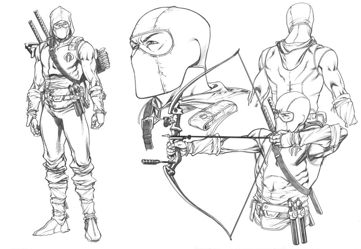 Snake Eyes Coloring Sheets Storm Shadow Art Cool Drawings