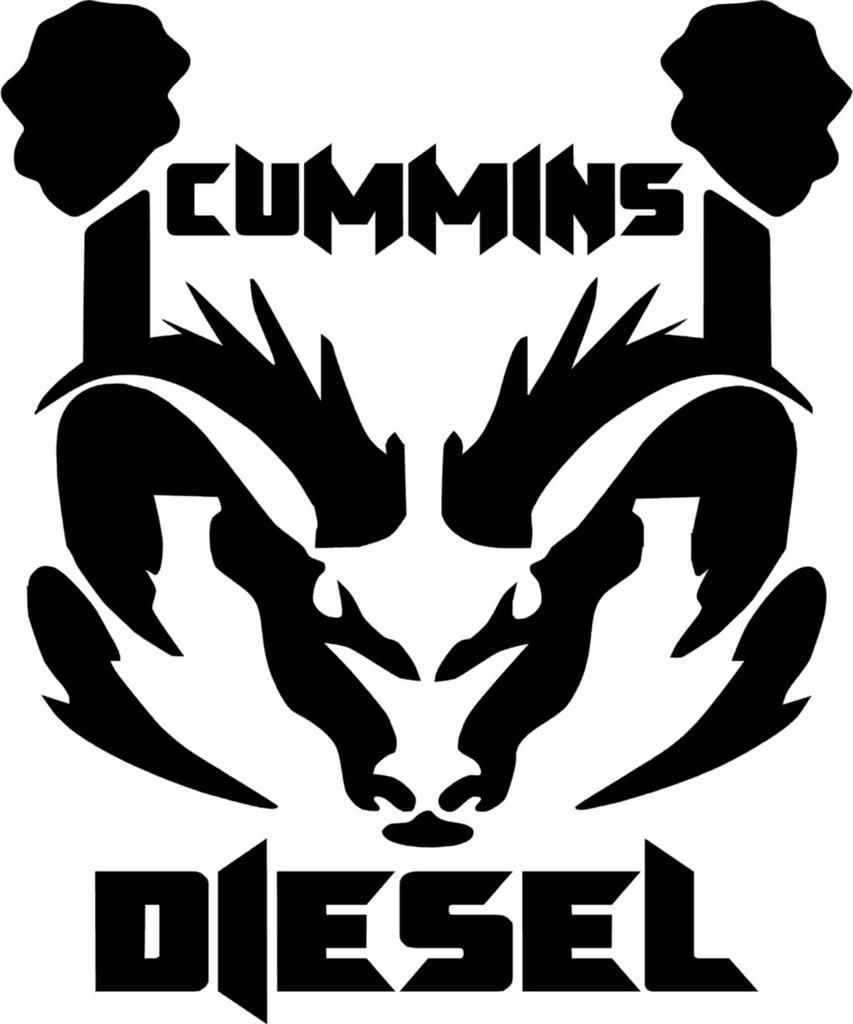 Cummins Diesel Ram Dodge Logo Vinyl Decal Sticker BitThiscom - Cool vinyl decal stickers