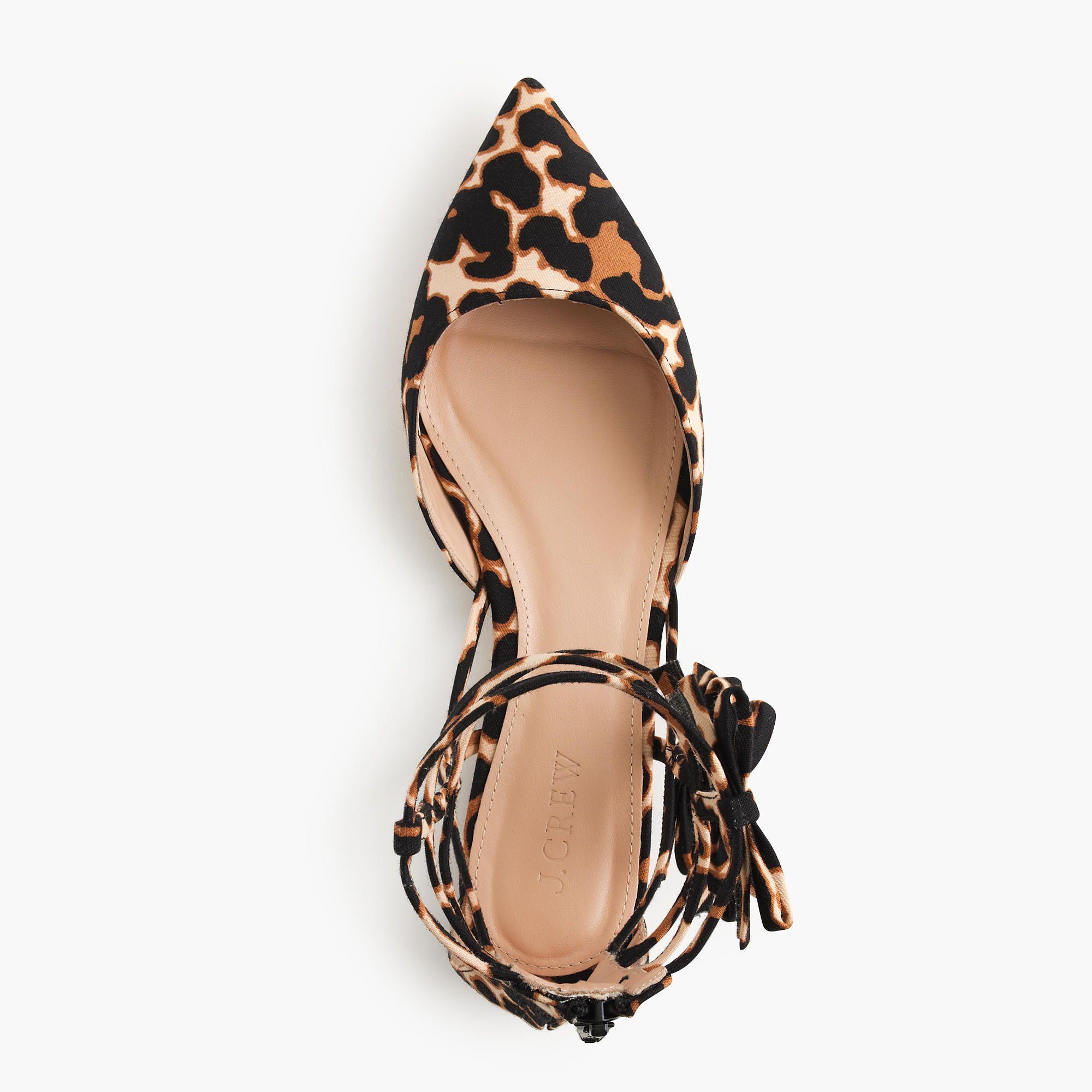 Leopard bow gladiator flats | Leopard