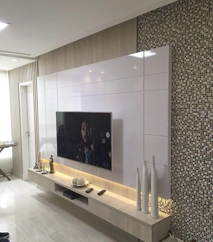 Ideias decoração   Living room tv unit designs, Living room design ...