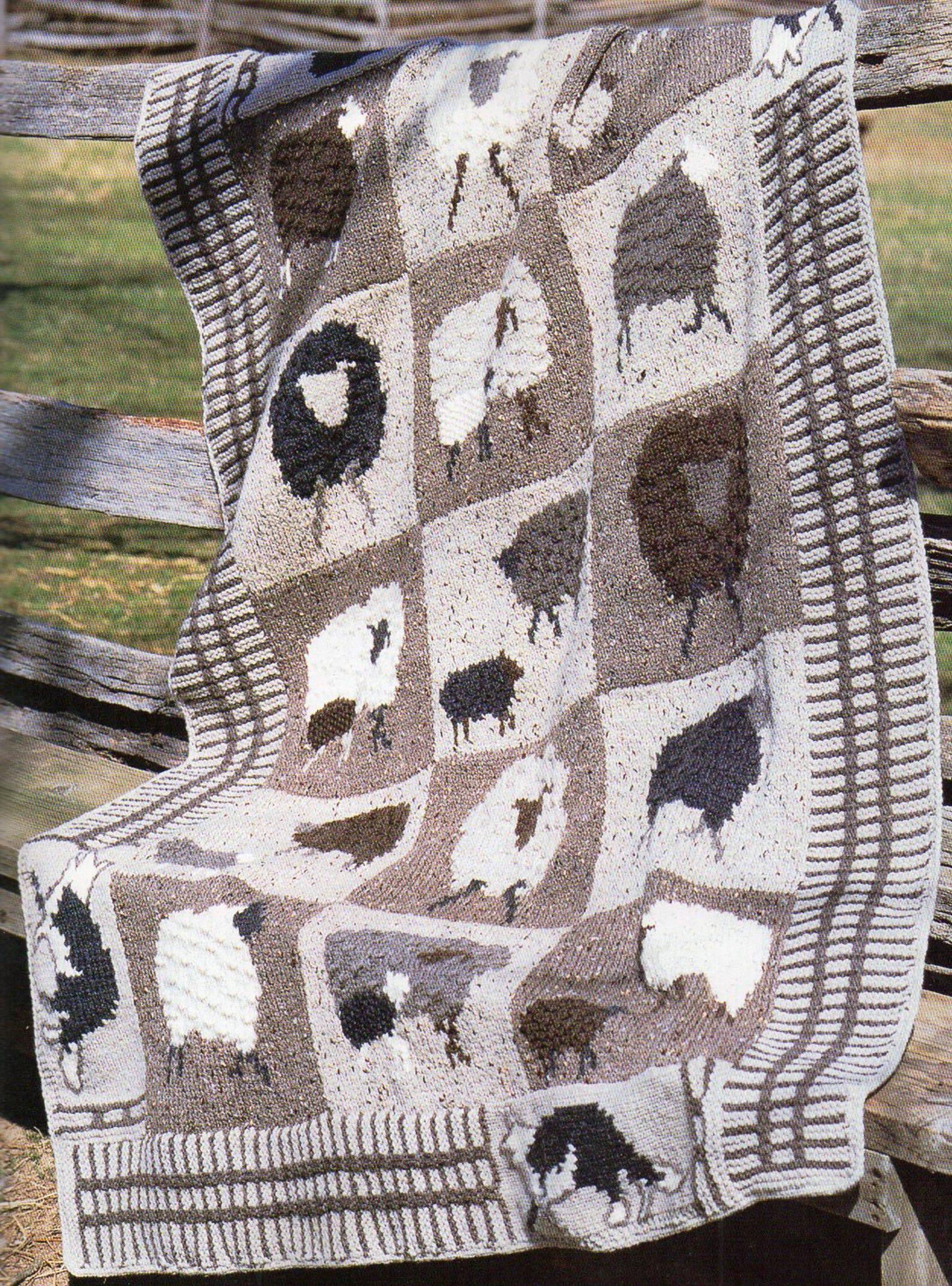 Farm Animals Afghan Knitting Pattern Lamb Sheep Fox Afghan