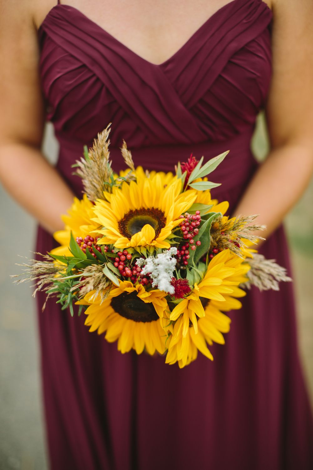 Wedding bouquets of sunflowers  South Jersey Wedding Florist Amanda u Kevin at Eastlyn Golf Course