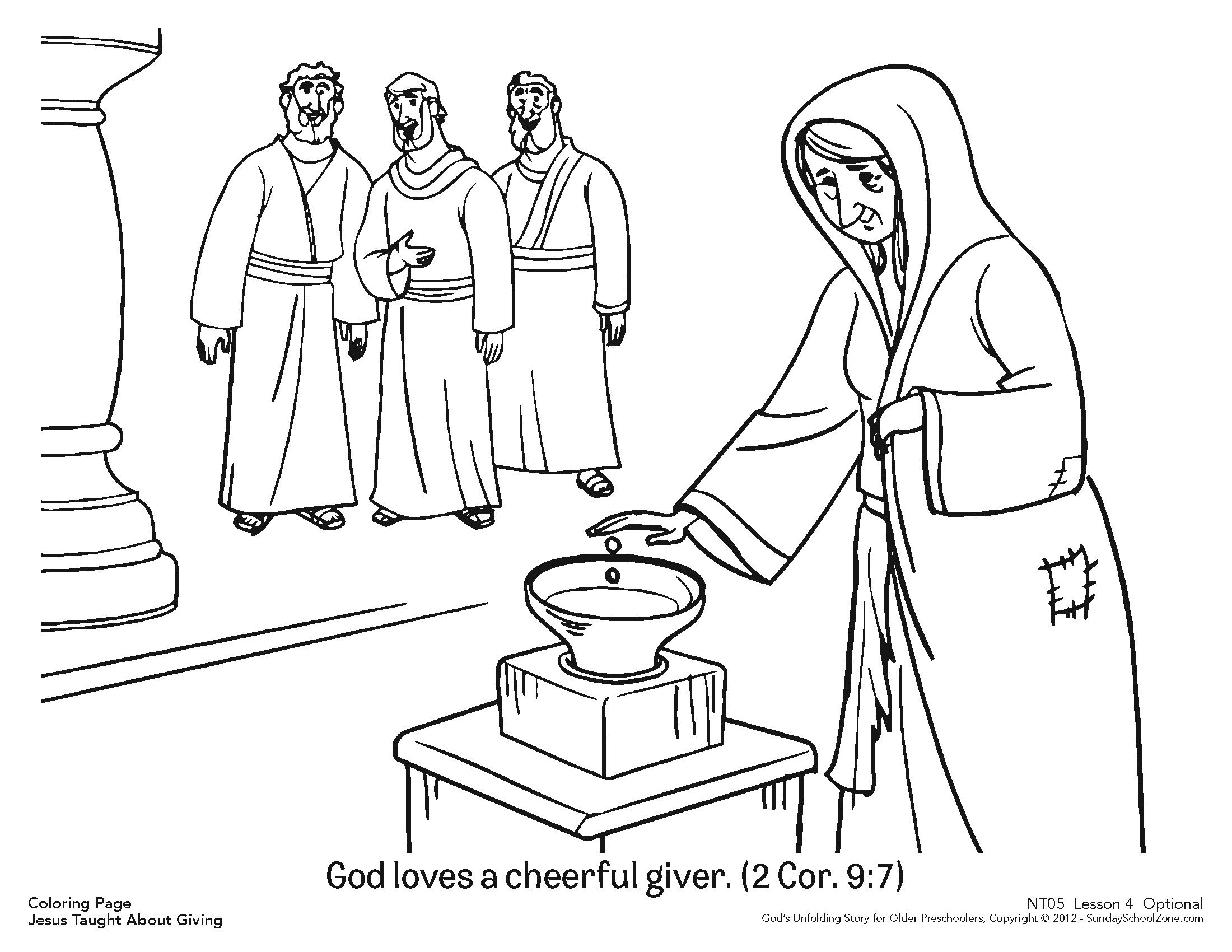 Cheerful Giver Coloring Page