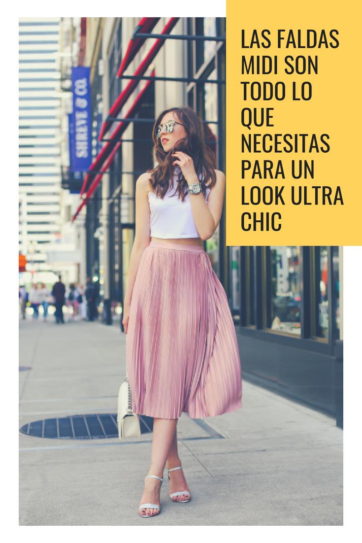 Las  faldas  midi son todo lo que necesitas para un look ultra  chic 093474cab03b