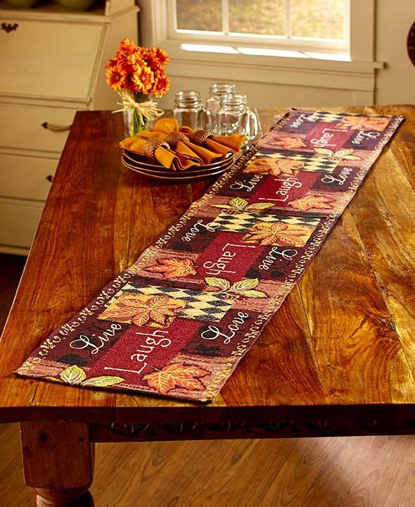 Tapestry Autumn Leaves Country Kitchen Collection Rug Runner Place