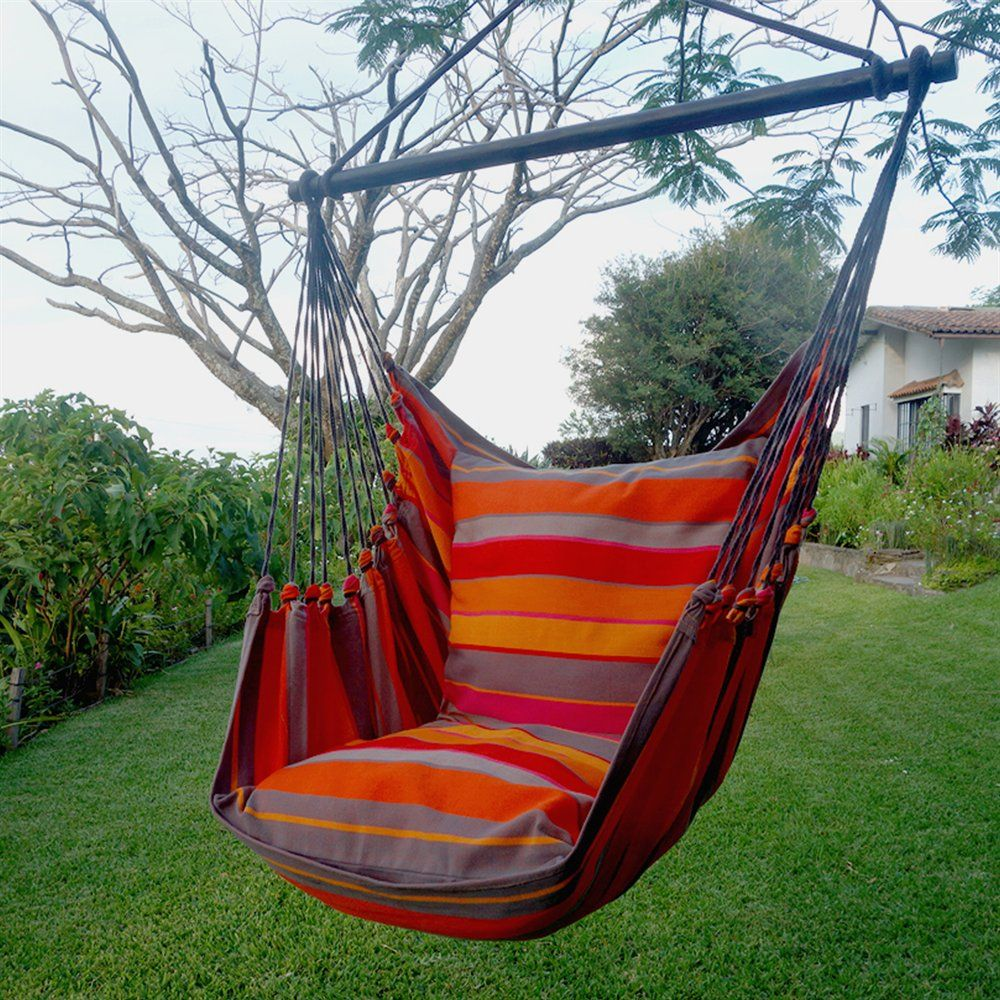 Henryka Hc 10 279 Orange Striped Hammock Swing With
