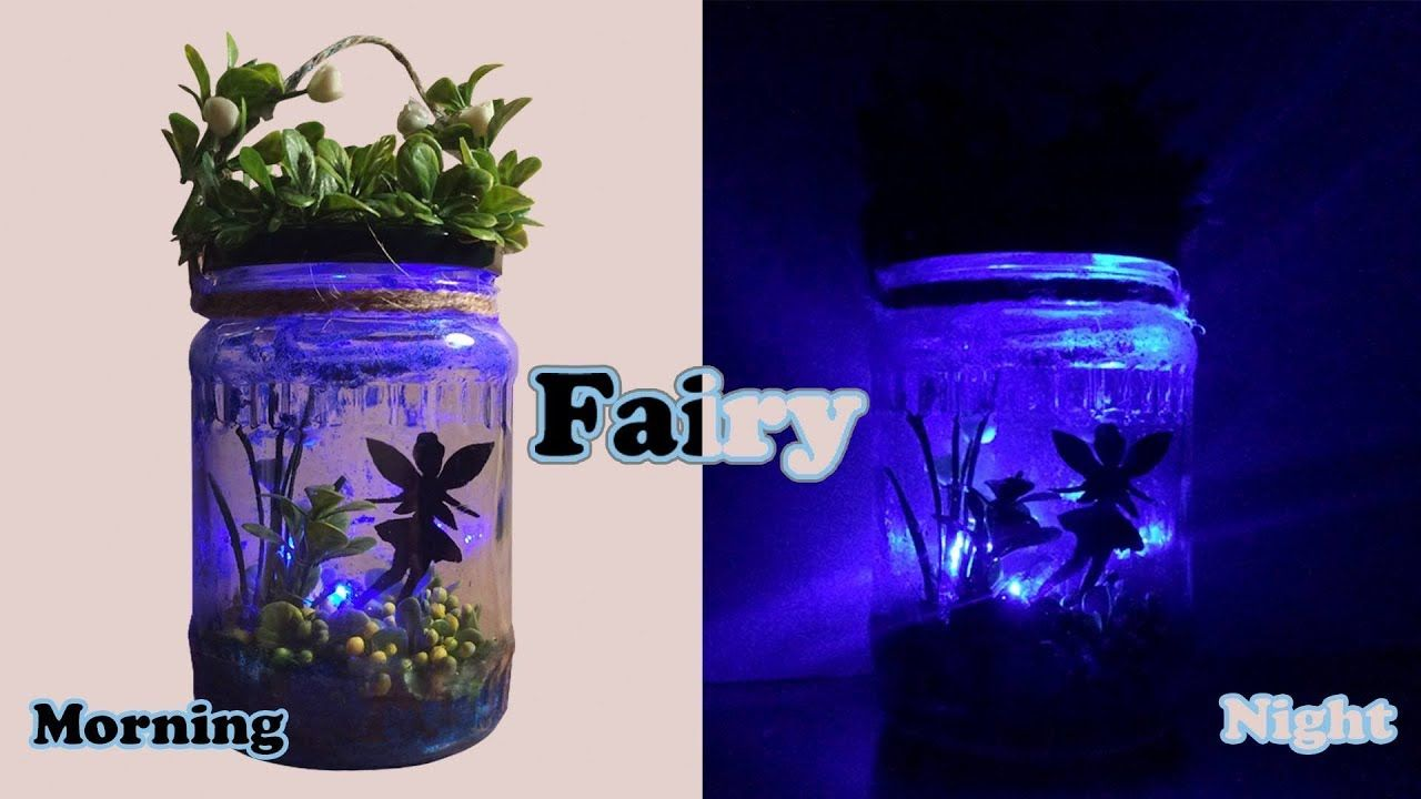 Diy Fairy Light Jar So Easy Magic Night Light Nal Clay Fairy Jars Mason Jar Fairy Lights Fairy Jars Diy