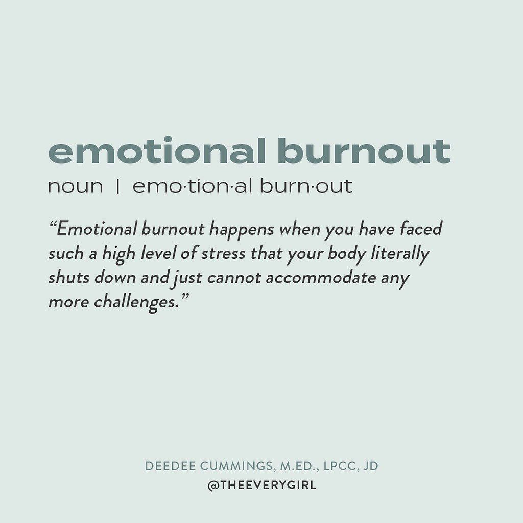 The Everygirl On Instagram If You Re Feeling An Emotional Burnout Know That You Are Not Alone 2020 Emotionally Drained Quotes Burnout Quotes Drained Quotes