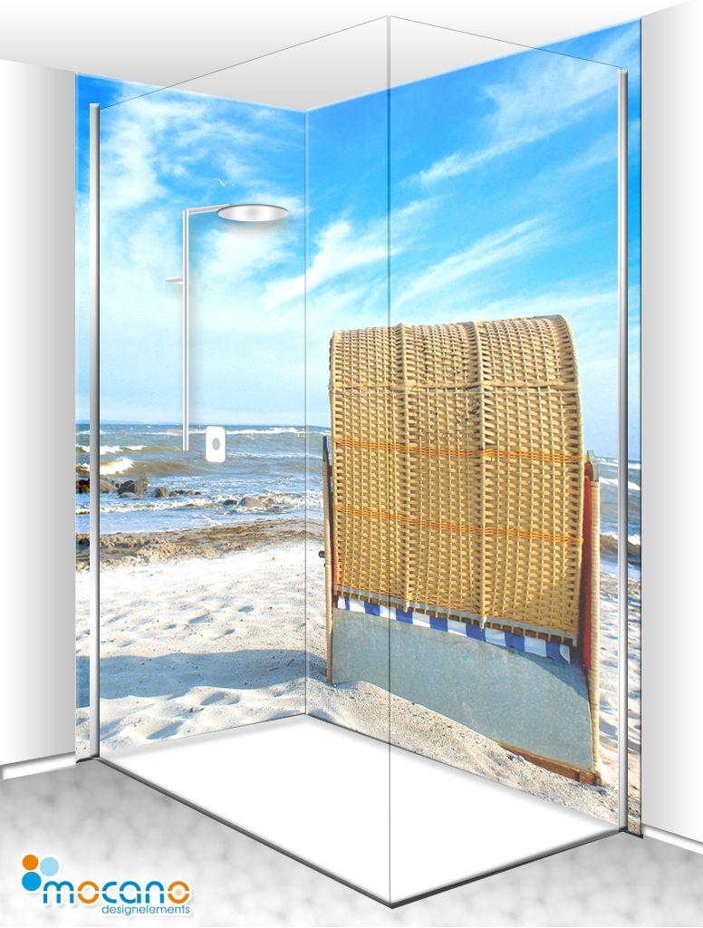 Strandkorb 5 Duschruckwand 80x210 120x210 Eck Set Duschruckwand Duschwand Dusche