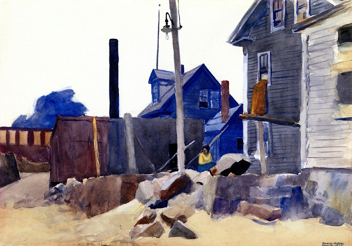 House on the shore edward hopper 1924 mon mus e imaginaire pinterest - Edward hopper maison ...
