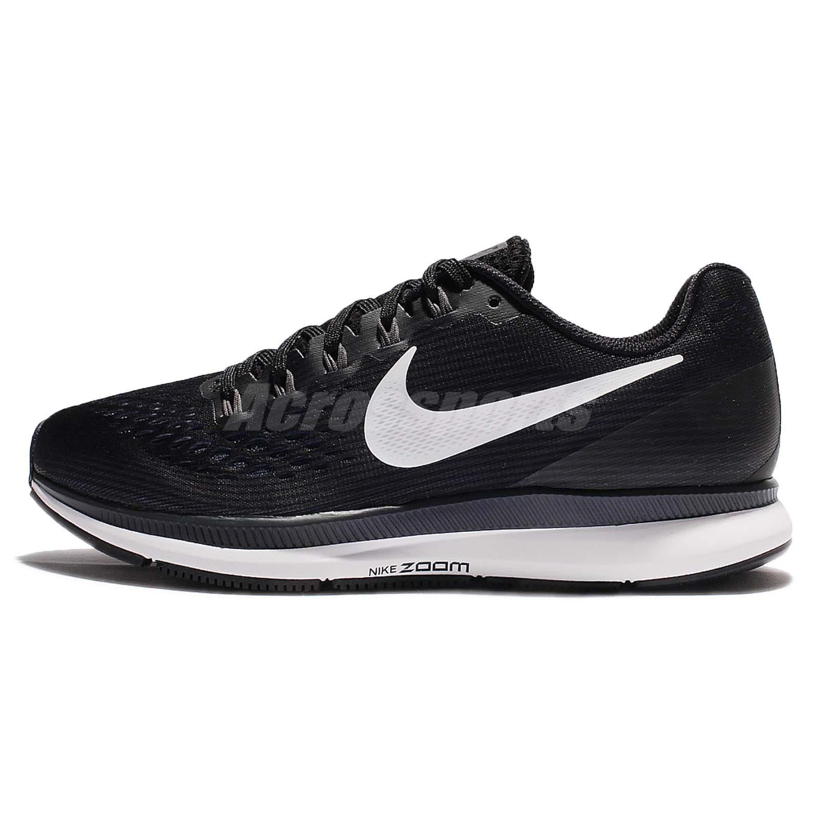 c8c2aedd780 Nike W Air Zoom Pegasus 34 Black White Women Running Shoes Sneaker 880560- 001