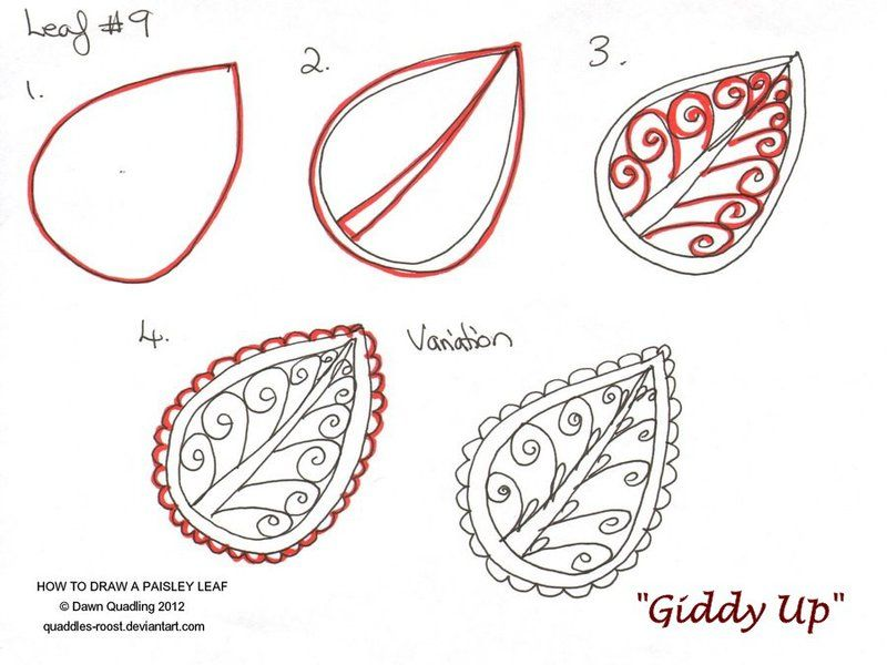 How To Draw Paisley Art