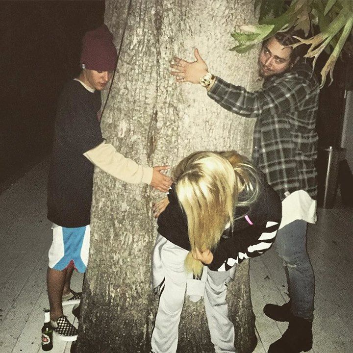 New gram from Justin// This tree gets a lot of action by justinbieber